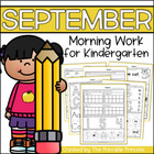 September Morning Work for Kindergarten {Common Core Aligned}