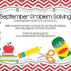 September Problem Solving Pack