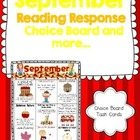 September Reading Response Choice Board