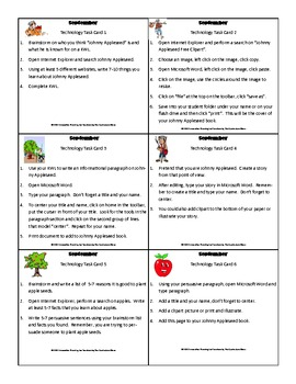September Technology Task Cards