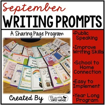 September Writing Pages for Class Share Time