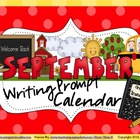 September Writing Prompt Calendar ~ 26 Page Back To School