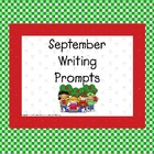 September Writing Prompts for Interactive Whiteboard and L