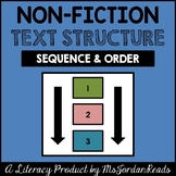 Sequence & Order -- Text Structure packet