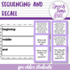 Sequencing & Recall for Older Students