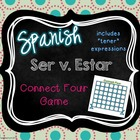 Ser, Estar and Tener Expressions Connect Four Game