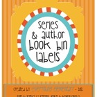 Series &amp; Author Book Bin Labels