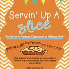 Servin&#039; Up a Slice- An Authors Purpose Classroom or Hallway Hunt
