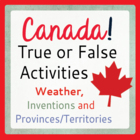Set of 3 Social Studies Activities - Canada (Weather, Prov
