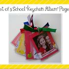 Set of Five School-Themed Pages for Keychain Albums/Mini-M