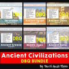Set of SIX Ancient History Document Based Questions (DBQs)