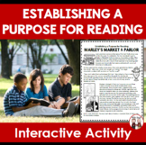 Setting a Purpose for Reading Interactive Activity (Common Core)