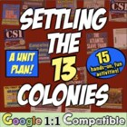 Settling the 13 Colonies - A Unit Full of Engaging, Studen