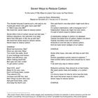 Seven Ways to Reduce Carbon (Carbon Reduction Song)