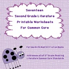 Seventeen Second Grade Literature Printable Worksheets for