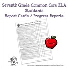Seventh Grade ELA Common Core Progress Report / Chart