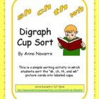 """Sh, Ch, Th, and Wh"" Diagraph Cup Sort"