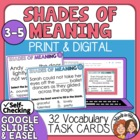 Shades of Meaning Task Cards: 32 Multiple Choice Cards for