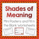 Shades of Meaning for Verbs and Adjectives- Meets Common C
