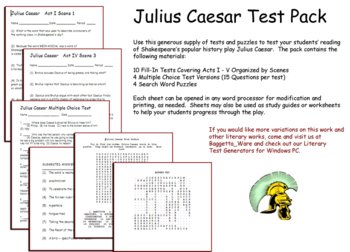 Shak. Julius Caesar Test Pack