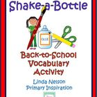 Shake-a-Bottle Vocabulary Activity for Back to School