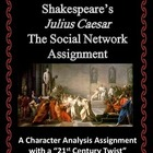 Shakespeare Julius Caesar Social Network - Character Analy