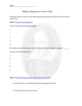 Shakespeare Web Hunt
