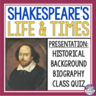 Shakespeare's Life and Times!  The 16th Century and Renaissance