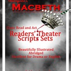 Shakespeare's Macbeth Readers' Theater Scripts - Bundle