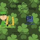 Shamrock 10 frame counting Smart Board Lesson
