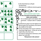 Shamrock Dominoes (5 games in one!)