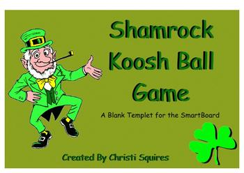 Shamrock Koosh Ball SMARTBoard Game