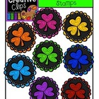 Shamrock Rainbow Stamps {Creative Clips Digital Clipart}