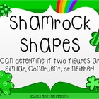 Shamrock Shapes Scoot or Task Cards (Similar and Congruent