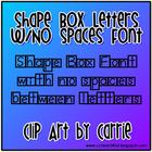 Shape Box Letters (No Space Between Letters) Font