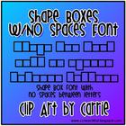 Shape Boxes (NO Spaces Between Letters) Font