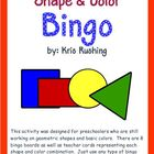 Shape & Color Bingo