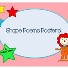 Shape Poems Posters! NEW AND IMPROVED with worksheets!