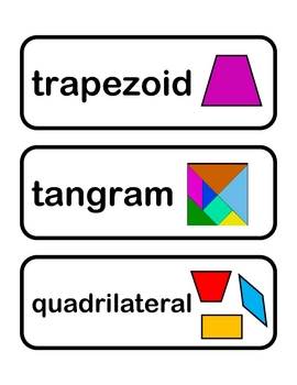 Shape Vocabulary Cards