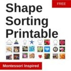 Shape matching printable Montessori cards
