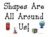 Shapes Are All Around Us  pocket chart sort
