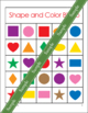 Shapes and Colors Bingo Game Cards in 5x5 Grids - Math Cen