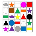Shapes and colors Bingo game
