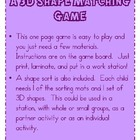 Shapin&#039; Up: A Solid Shape Matching Game