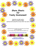 Share Sheets Emergent Reading Family Involvement
