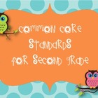 Shareable Common Core Standards for Second Grade Owl theme
