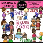 Sharing Is Caring Clip Art Bundle