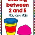Sharing between 2 and 5 - Play doh mats