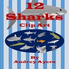 Shark Clip Art - Great White Shark, Mako Shark, Lemon Shar