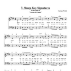 Sharp Key Signatures Song, Student Edition